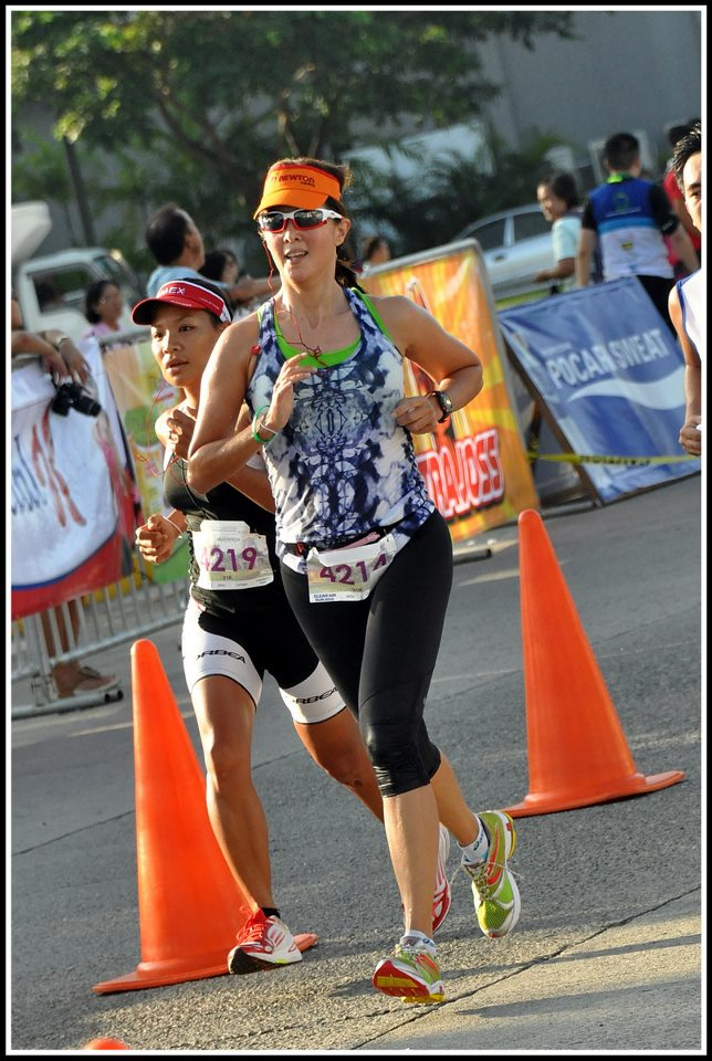 ENDURANCE TRIATHLETE. Sen Pia Cayetano says being a runner helps her develop the patience for difficult races like the RH bill. Photo from Sen Cayetano's Facebook page