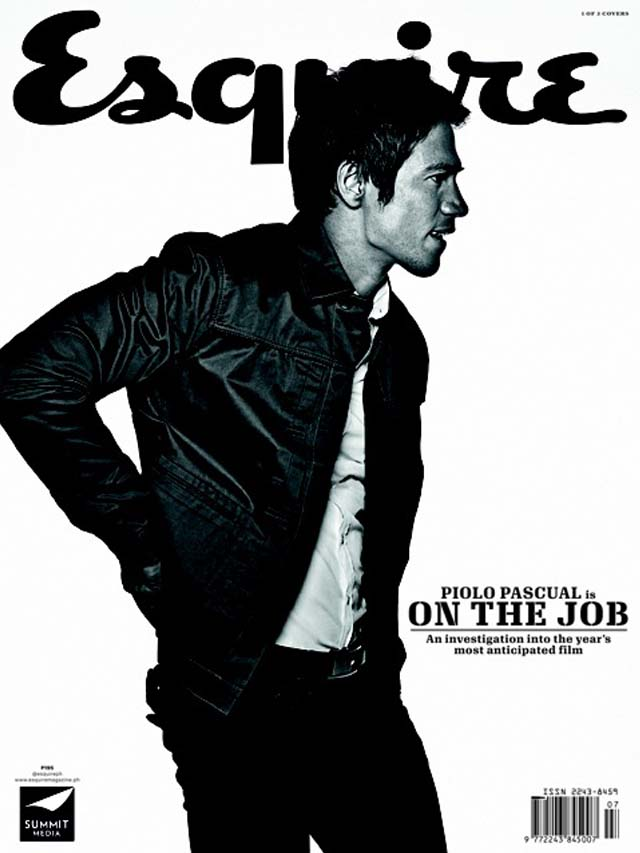 PIOLO ON THE JOB. Piolo Pascual on one of Esquire Philippines' triple August covers. Photo by Paco Guerrero
