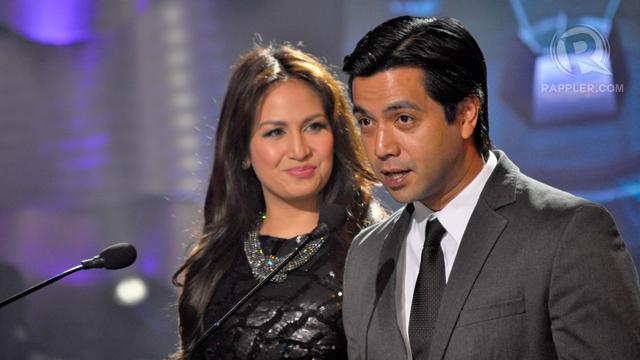 Presentors Regine Tolentino and husband Lander Vera Perez