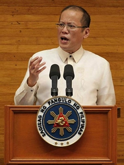 'NO FORGIVE, FORGET.' In his SONA, President Aquino rejected the mentality that alleged anomalies during the Arroyo administration must be forgiven and forgotten. Photo by Malacau00f1ang Photo Bureau
