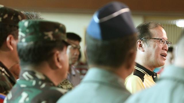 PNOY PROMISES. President Benigno Aquino III gives assurances the government has the resources to rehabilitate Zamboanga City. Malacau00f1ang Photo Bureau