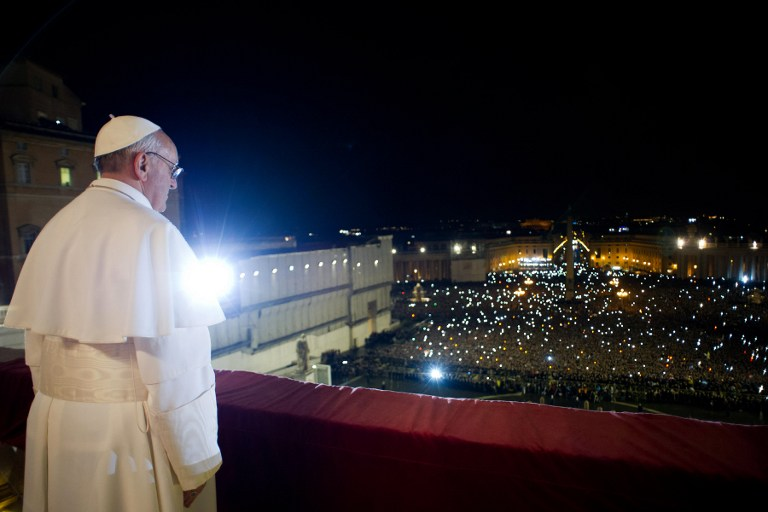 'MORE HUMBLE CHURCH.' Fr Albert Alejo says the Jesuit spirituality promotes a u0022more humble, listening, and not know-it-all Church.u0022  AFP PHOTO/OSSERVATORE ROMANO