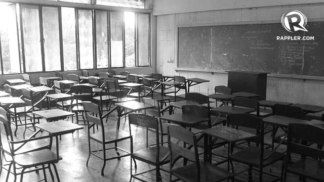 EMPTY. Students ask Paulino where their tuition fees go if the school is not suffering business losses. Photo by Jee Geronimo/Rappler