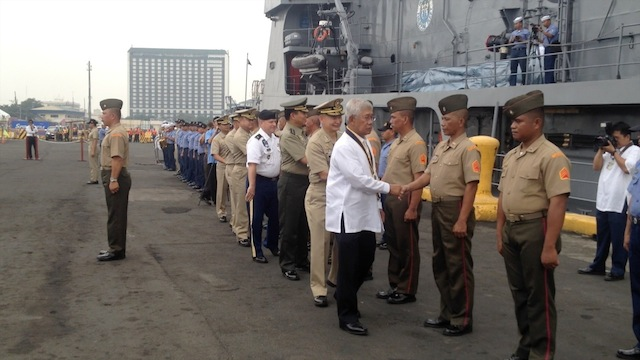 LOW-KEY: Commissioning rites for BRP Ramon Alcaraz. Photo by Carmela Fonbuena/Rappler