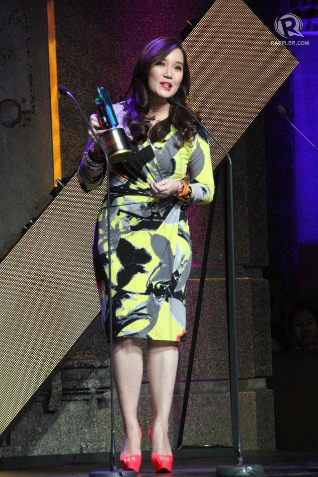 HOST OF CHOICE. Kris Aquino won Best Talk Variety Program Host for u0022Kris TVu0022