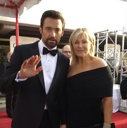 Hugh Jackman (left) with wife Deborah Lee-Furness