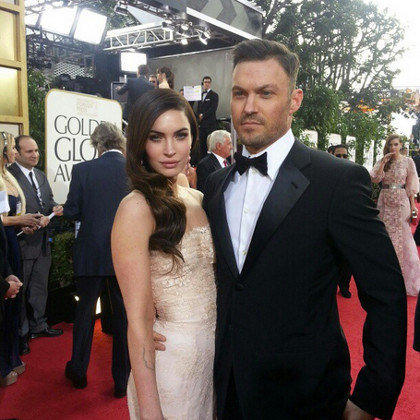 Megan Fox (left) with husband Brian Austin Green