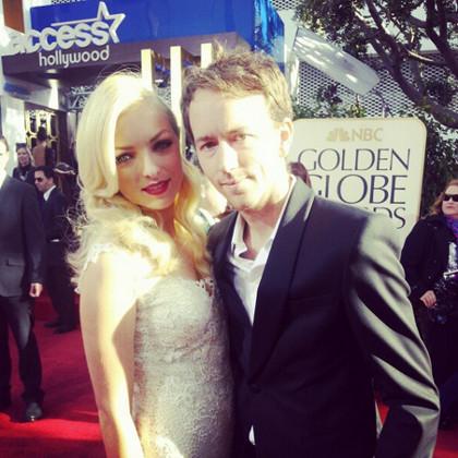 Miss Golden Globe Francesca Eastwood (left), daughter of Hollywood legend Clint Eastwood
