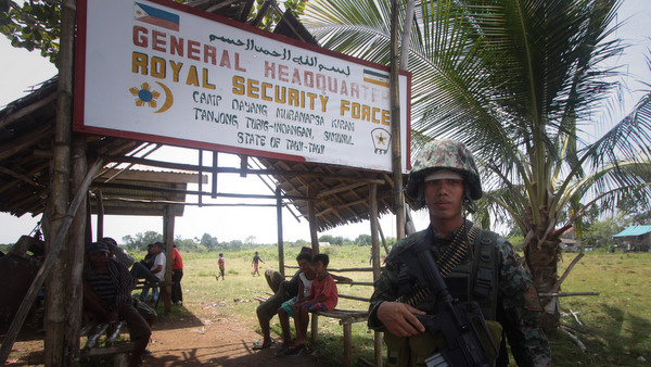 SECURED. A government soldier guards Camp Dayang of the Royal Security Force in Tubig-Indangan, Simunul, Tawi-Tawi. Photo by Karlos Manlupig