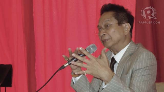 POLITICALLY MOTIVATED? Lakas-Magdalo political party Salvador Panelo says cops led by Police Superintendent Glenn Dumlao are in cahoots with politicians to harass their supporters. RAPPLER/Jerald Uy