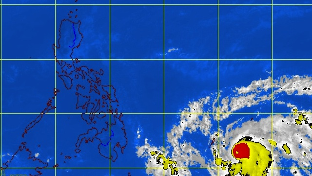 MTSAT ENHANCED-IR Satellite Image showing the location of Typhoon Bopha as of 10:30 a.m., 02 December 2012. Image courtesy of PAGASA.