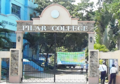 ACADEMIC FREEDOM? Pilar College bans the use of the veil in school premises. Photo by Amir Mawallil
