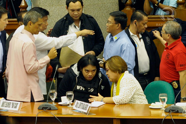 SURPRISE APPEARANCE. State witness Benhur Luy appears unexpectedly at the Senate blue ribbon committee hearing on the pork barrel scam September 12. Photo by LeAnne Jazul/Rappler