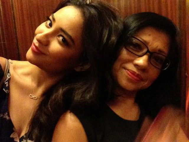 PROUDLY MORENA. Shay Mitchell with her Filipino mom, Precious, in a photo posted on her Facebook page