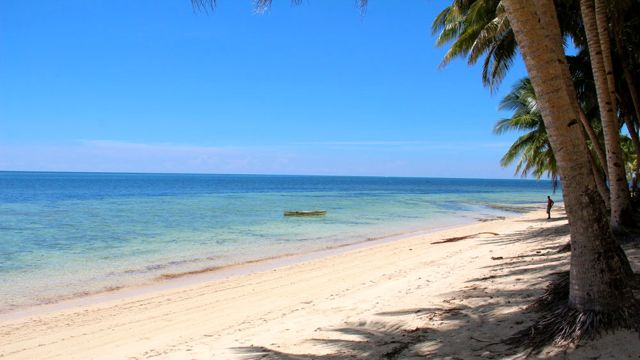 The scenic beach at General Luna