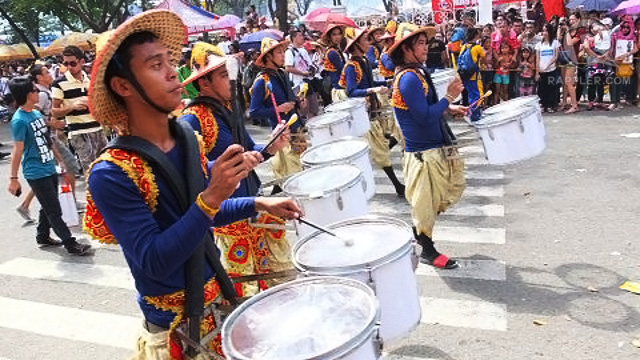 DRUM-ROLL PLEASE. The parade, held on January 20, begins to the beat of drums