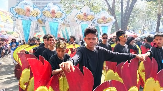 THE PARADE involved a lot of waiting, not only for festival-goers, but for the street dancers as well