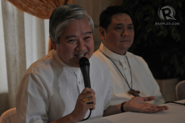 'BE LOVING.' Lingayen-Dagupan Archbishop Socrates Villegas, president of the CBCP, says RH advocates and critics should be 'friends.' File photo by Roy Lagarde/Rappler