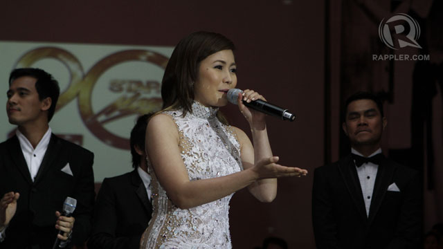 SINGER YENG CONSTANTINO WAS beautiful and radiant that night