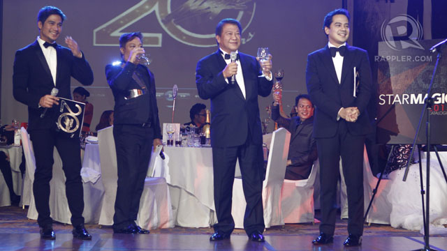 ABS-CBN EXECUTIVE FREDDIE Garcia led the toast for the evening