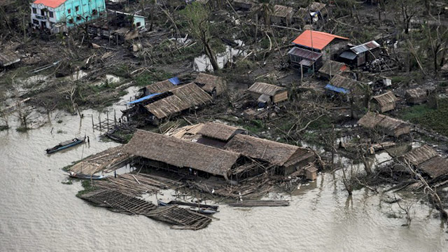 NARGIS. Cyclone Nargis was one of the most destructive storms in history. Photo from Agence France-Presse