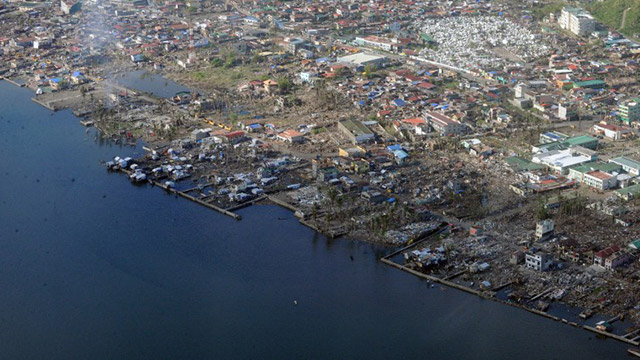 VULNERABLE. More than half of the Philippine population live on the coasts. Photo from Agence France-Presse