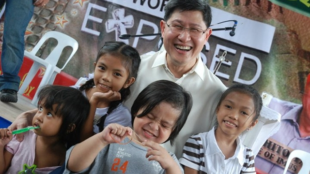 CHARISMATIC BISHOP. Manila Archbishop Luis Antonio Tagle is seen as deeply connected to the grassroots. Photo from Tagle's Facebook page