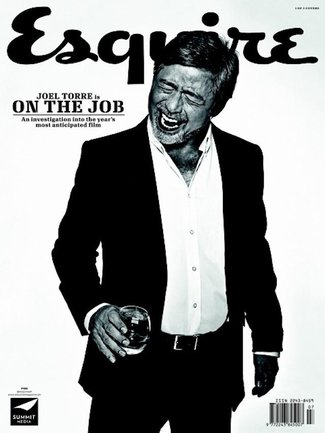 JOEL ON THE JOB. Veteran actor Joel Torre, photo by Paco Guerrero.