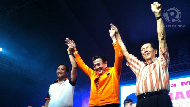 TRIO NO MORE. Vice President Binay is the sole opposition leader, with Estrada focused on his re-election and Enrile faces plunder charges over the pork barrel scam. File photo by Rappler/Ayee Macaraig