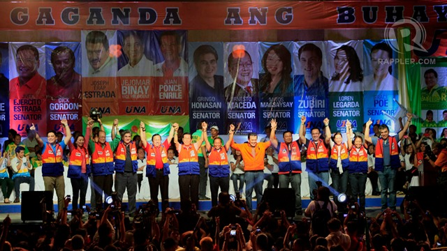 ONE SLATE. UNA campaign manager Toby Tiangco tells Rappler UNA will no longer break its senatorial slate into 3 teams. File photo by Charlie Saceda