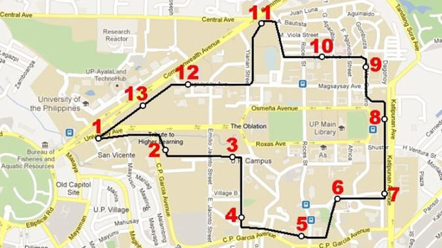 PHASE 2: Proposed Route of phase 2 of the UP Monorail