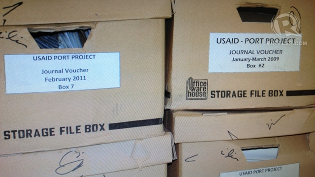 FAKED RECEIPTS? 35 of these boxes contain the supposed products of the weekly 'doctorate days,' the NBI claims.