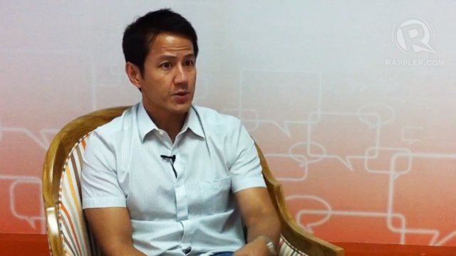 NO TO 'EPAL': Vincent Lazatin in an interview with Rappler on premature campaigning.