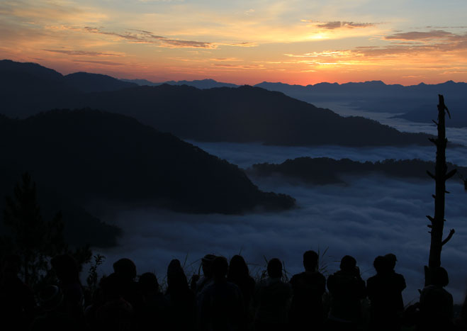WAITING FOR THE STAR. The author's view from Kiltepan Peak while waiting for the sunrise. Photo by Izah Morales