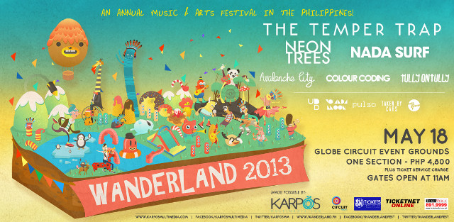 WANDERLAND 2013. The May 18 music and arts festival packs a punch with its stellar line-up. Image courtesy of Karpos Multimedia Inc
