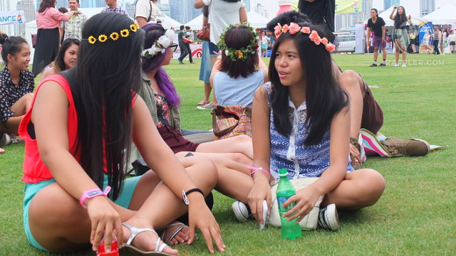 NYMPH LOOK. Floral headwear was a popular fashion statement for female citizens of Wanderland 2013