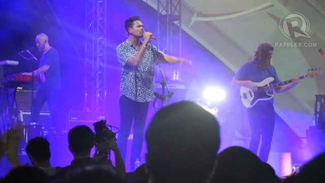 NEW HEIGHTS. The Temper Trap's Dougy Mandagi brought the crowd to new heights with his gorgeous falsetto voice