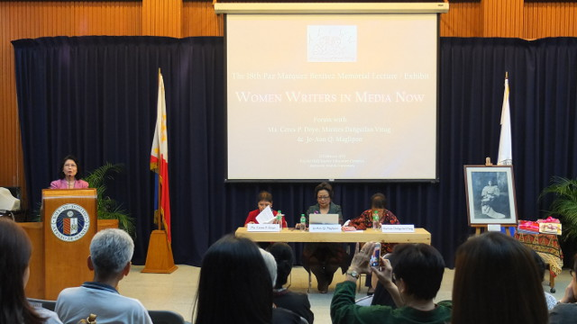 WOMEN IN MEDIA. The 3 veterans share their experiences as women journalists