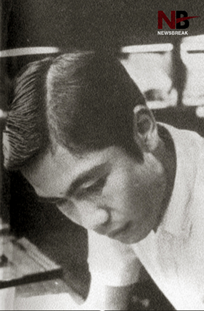 NO TO REVOLUTION. Carpio during his younger days at the Ateneo